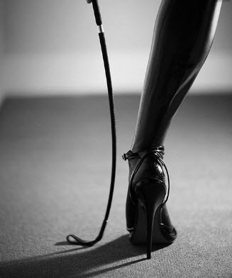high heels and whip